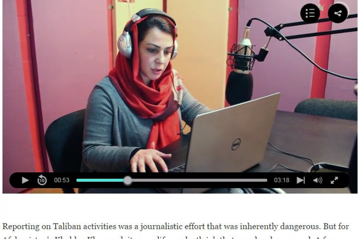 The Fearless Journalist Spotlighting Afghanistan's Women