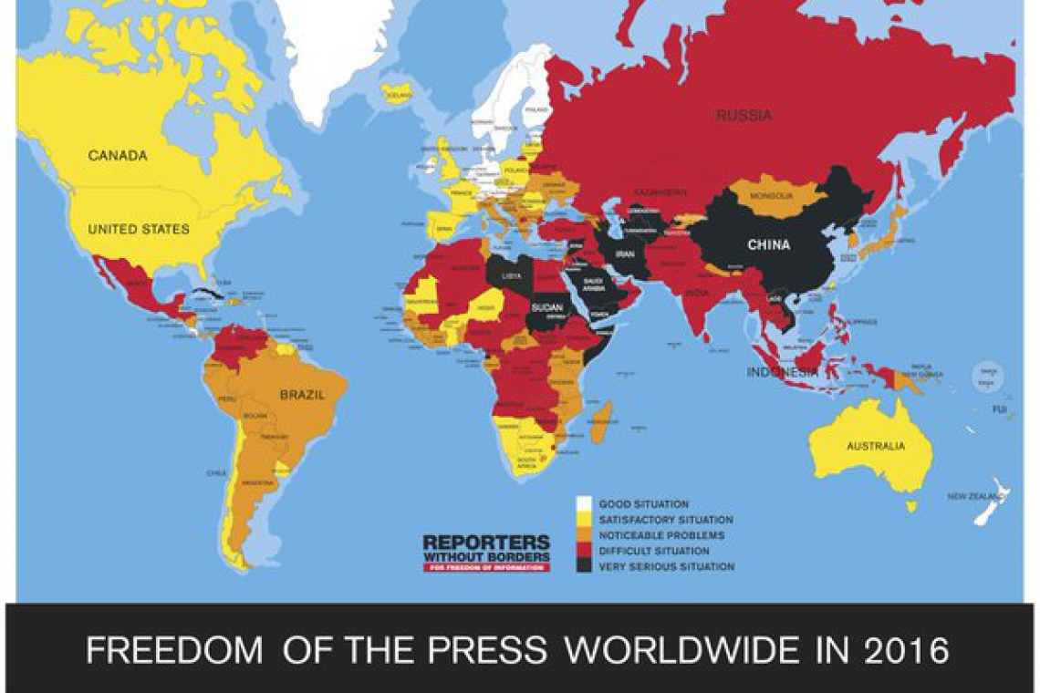 Afghanistan 2 spots up in world press freedom index